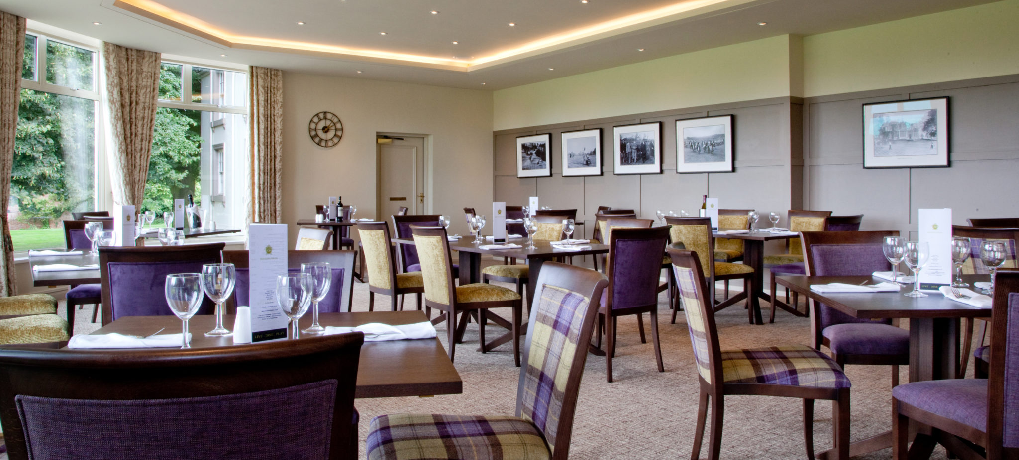 Clubhouse interior design at beeston fields golf club