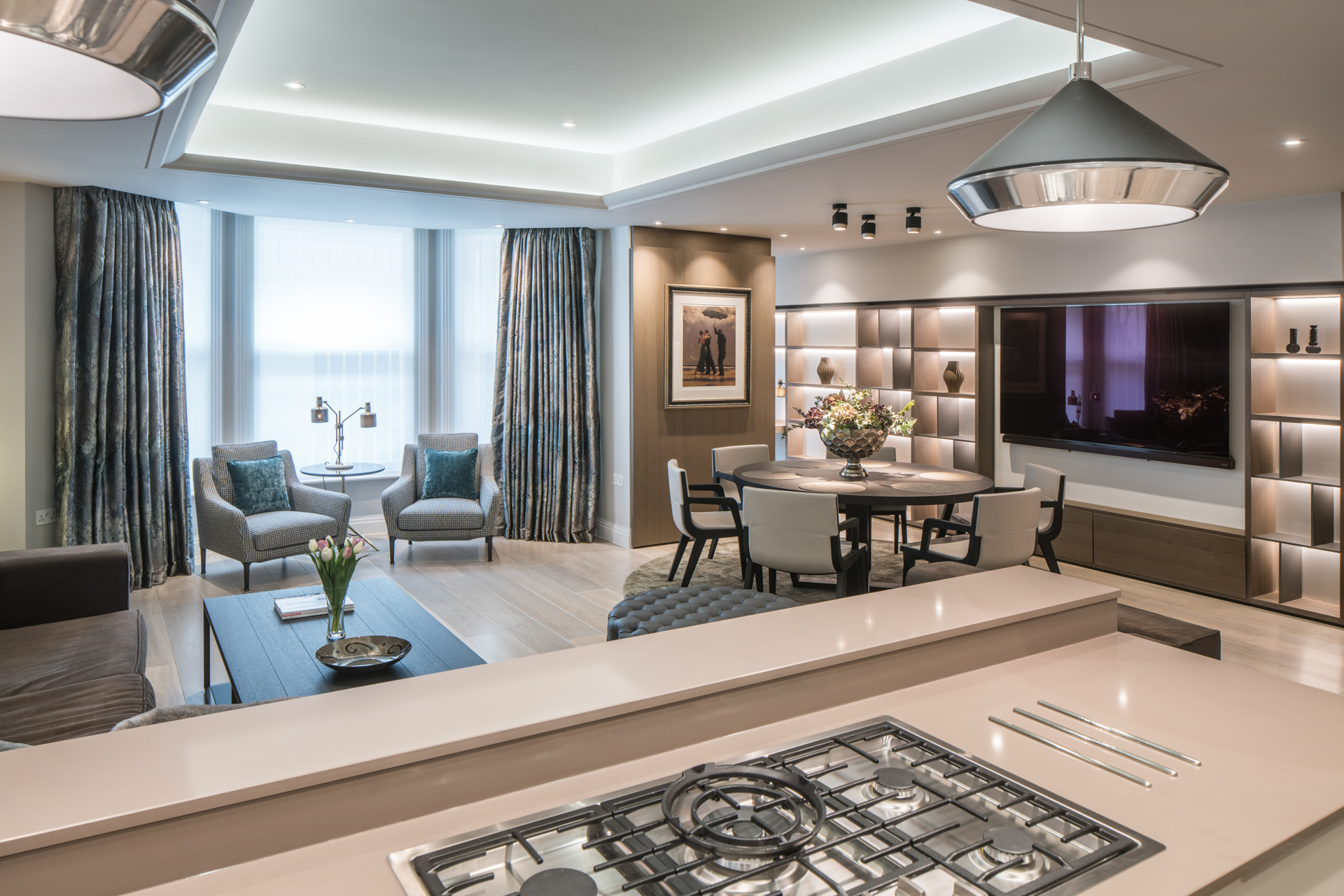 Residential interior design kensington apartment in london for Residential interior designers london